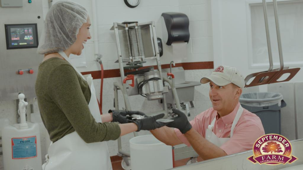 making cheese on the food network at september farm cheese