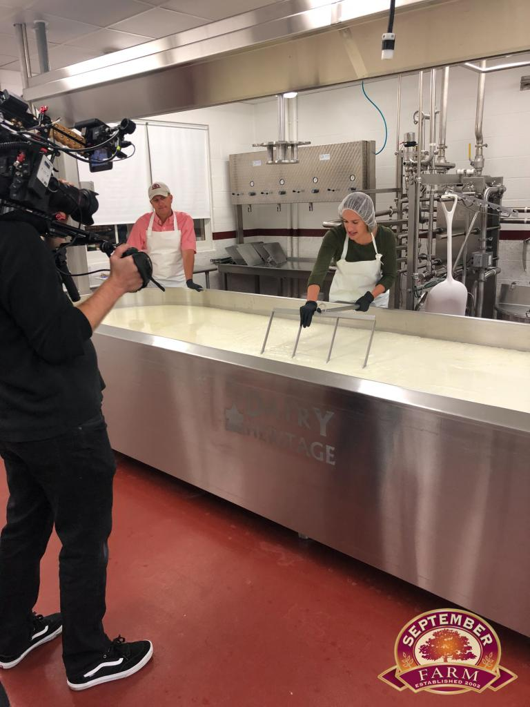 the food network recording the cheese making show