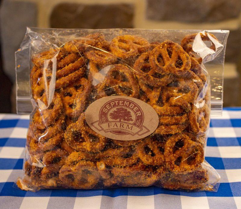 Sweet cheddar pretzels